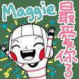 Maggie's sticker