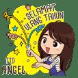 Sticker Nama Angel