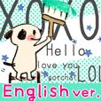 """有一只可爱的狗""""英文版""""。"""
