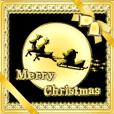動く!きらめくクリスマス☆年賀状