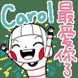 Carol's sticker