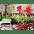 美麗花朵與風景早晚問安長輩圖(三)