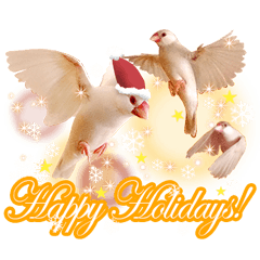 Bird sticker for New Year's Holiday.