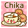 "Use the stickers everyday ""Chika"""