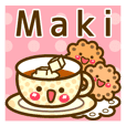 "Use the stickers everyday ""Maki"""