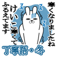 Sticker gift to keiko Rabbitkeigowinter