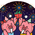 HAPPY NEW YEAR LUCKY PIGGY
