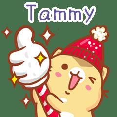 """Tammy 冬季限定""扭扭貓姓名貼Q"