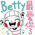 Betty's sticker