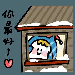Ning's 可愛小藍 - 冬季貼圖特輯