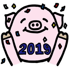 Happy New Year! Greeting Pig!