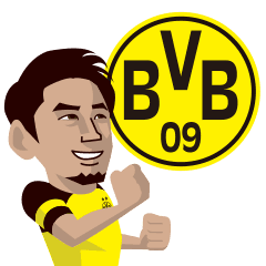 18 19 Borussia Dortmund Official Sticker Line Stickers Line Store