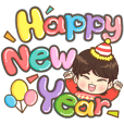 Merry Christmas and Happy New Year (Boy)