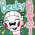 Becky's namesticker