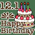 12月1日から31日までのお誕生日おめでとう