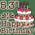 5/1-31 happy birthday Large Text