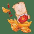 Kou zu huajia de tietu xiaopu PIG YEAR