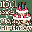 10/1-31 happy birthday Large Text
