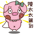 Coco Pig -Name stickers - Mrs.Chen
