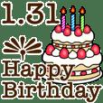 1/1-31 happy birthday Large Text