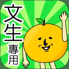 【文生】專用 名字貼圖 橘子