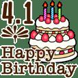 動く☆4月1日〜16日のお誕生日お祝い