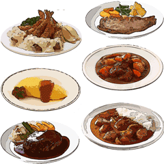 Today S Dinner In Japan Line Stickers Line Store