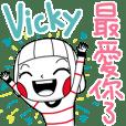 Vicky's sticker