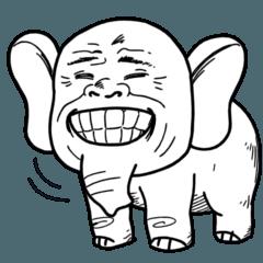 Stiker Gajah - Jelek!