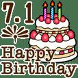 動く☆7月1日〜16日のお誕生日お祝い