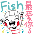 Fish's sticker