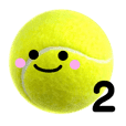 Object stamp Tennis ball second