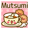"""Use the stickers everyday """"Mutsumi"""""""