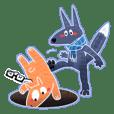 Laver Fox and Hot strip Bear