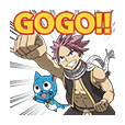 FAIRY TAIL Action Stickers!