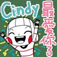 Cindy's sticker