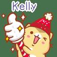 """Kelly 冬季限定""扭扭貓姓名貼Q"