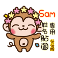Twopebaby flower monkey 167 Sam