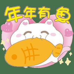 棉花糖貓-咪球 軟綿綿來過年♪