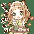 TANUKI girl sticker