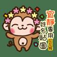 Twopebaby flower monkey 406