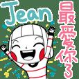 Jean's namesticker