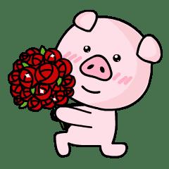 可爱的粉红猪
