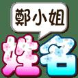 028Miss Zheng-big name sticker