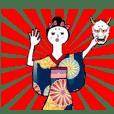 kimono girl with hannya