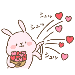 omochi usagi sticker 14(love)