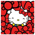Hello Kitty Pouncing Pop-Up Stickers
