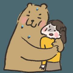 咻咻熊與小女孩(情侶對話篇3)
