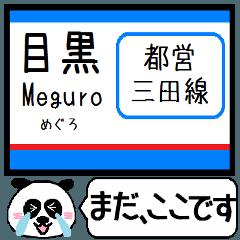 Inform station name of Mita line4