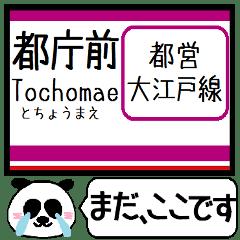 都営 大江戸線 駅名 今まだこの駅です!